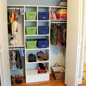 Custom Closet On The From Take Side Street Shelving New Wood Rod Supports Caulk Primer Paint