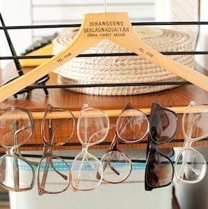 Hanging Eyewear from Coat Hanger