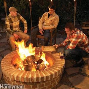 simple round brick fire pit