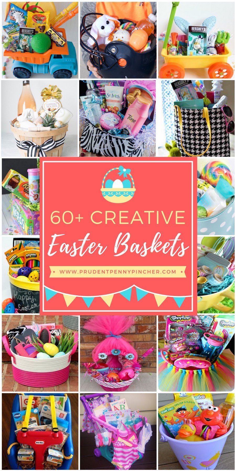 60 best diy easter basket ideas prudent penny pincher looking for creative and fun easter basket ideas skip the traditional easter baskets this year and try one of these unique easter basket ideas negle Choice Image