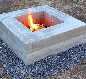 ModernConcrete Fire Pit