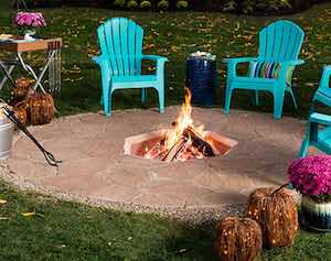 In Ground Fire Pit Pvc Pipe + Plywood Sheet + String + Patio Pavers +  Concrete Blocks + Paver Base + Leveling Sand + Jointing Sand + Mortar +  Paver ...