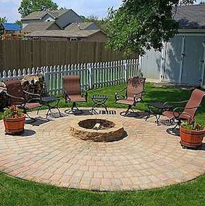Brick Paver Fire Pit and Patio