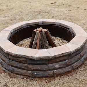 Easy Fire Pit Diy Retaining Wall Blocks Cap Drainage Gravel Decorative Rock Construction Outdoor Adhesive Metal Ring