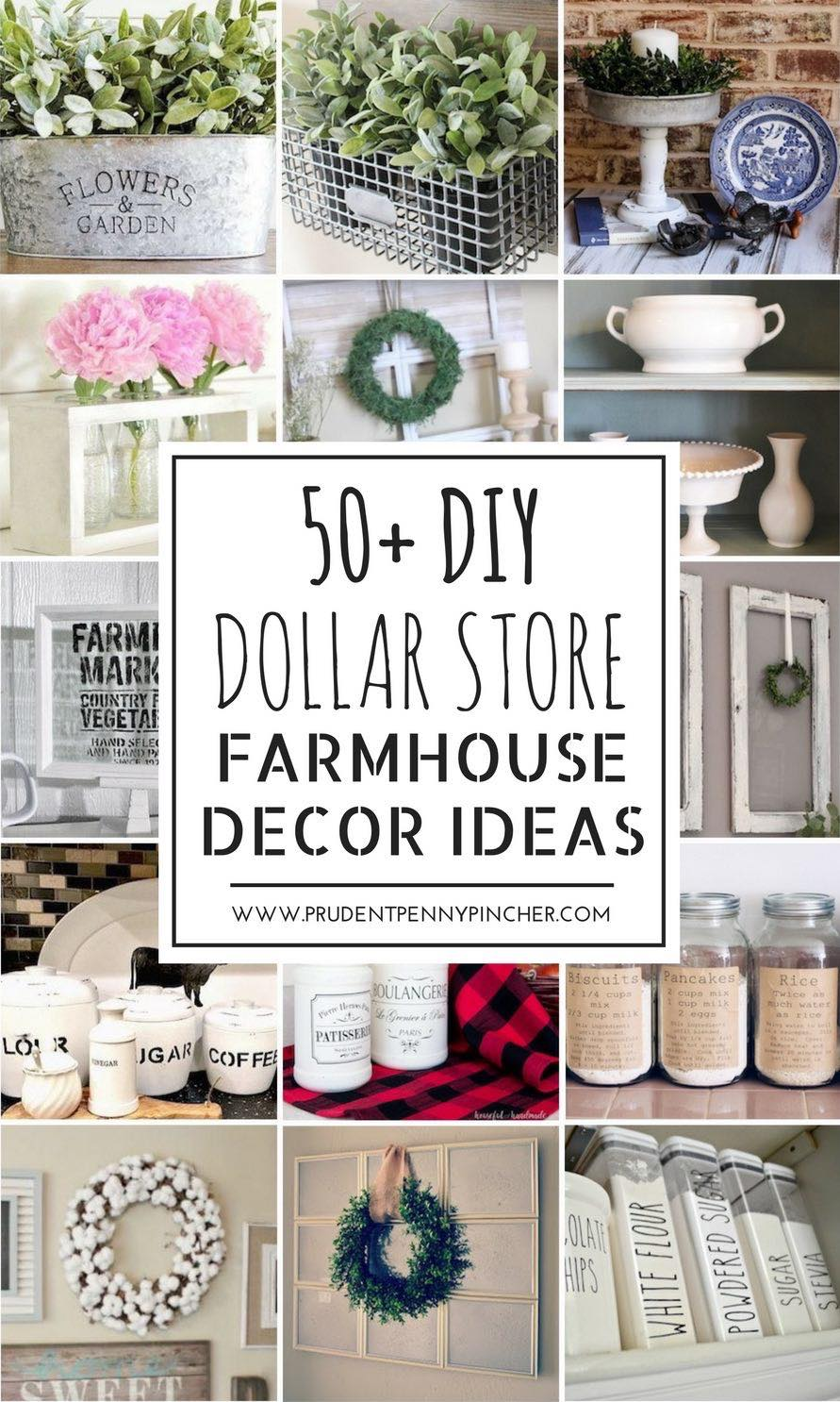 50 Dollar Store DIY Farmhouse Decor Ideas - Prudent Penny Pincher