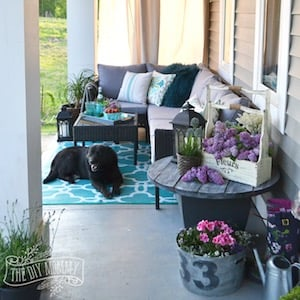 Country Farmhouse Porch Decor Ideas From The DIY Mommy