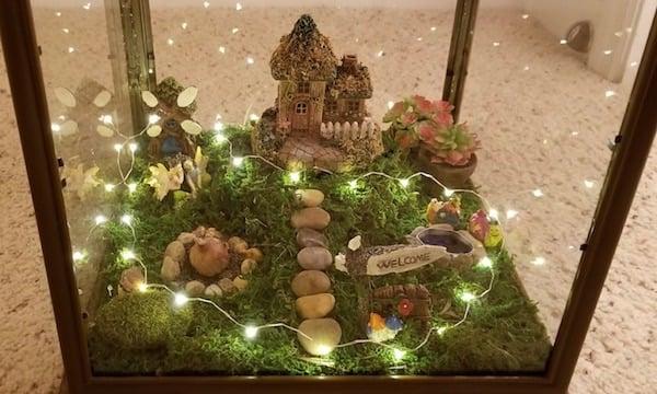 directions for indoor fairy garden lantern - Indoor Fairy Garden