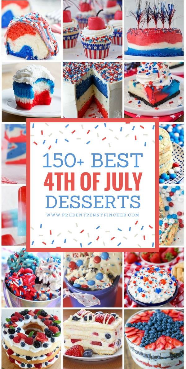 150 Best Patriotic 4th of July Dessert Ideas