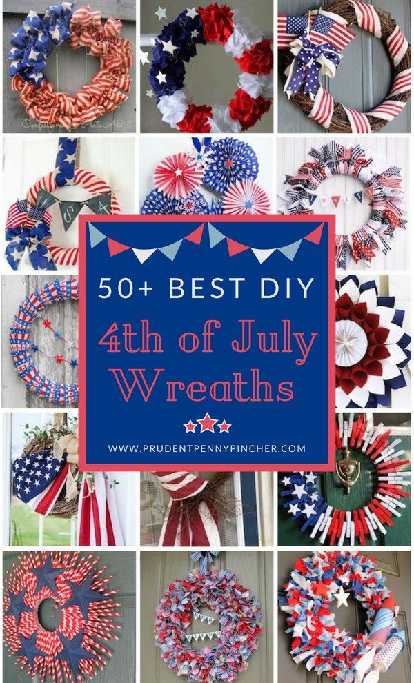 50 Best DIY 4th of July Wreaths
