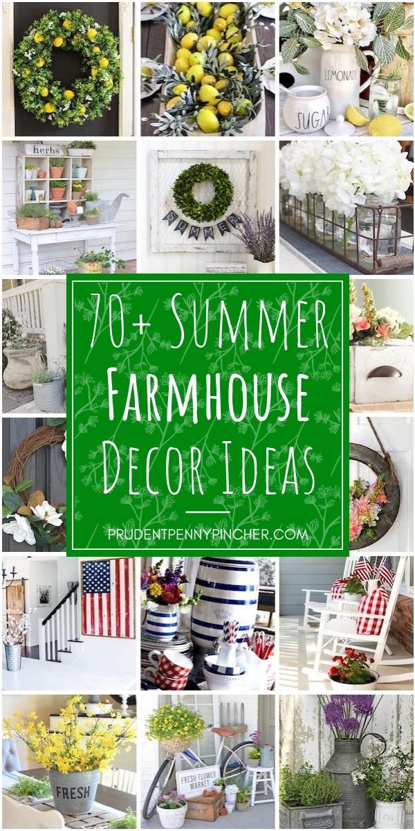 70 Summer DIY Farmhouse Decor Ideas