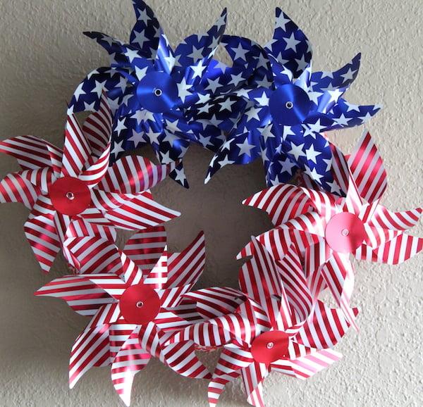 4th of July Pinwheel Wreath