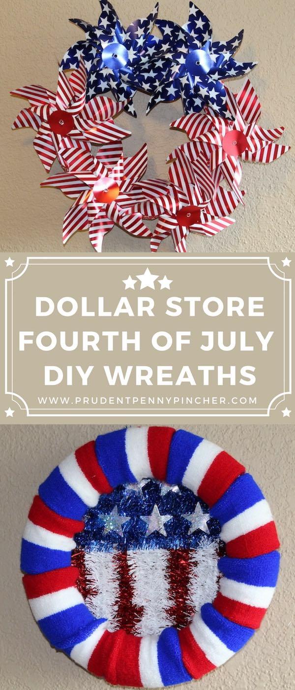Dollar Store DIY 4th of July Wreaths