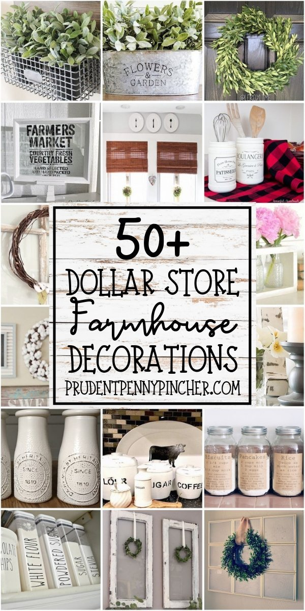 50 Dollar Store Diy Farmhouse Decor Ideas Prudent Penny Pincher