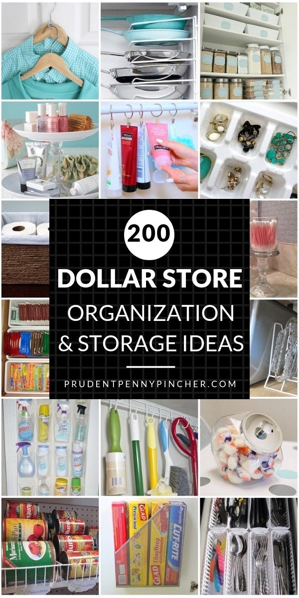0e775222a65 200 DIY Dollar Store Organization and Storage Ideas - Prudent Penny ...