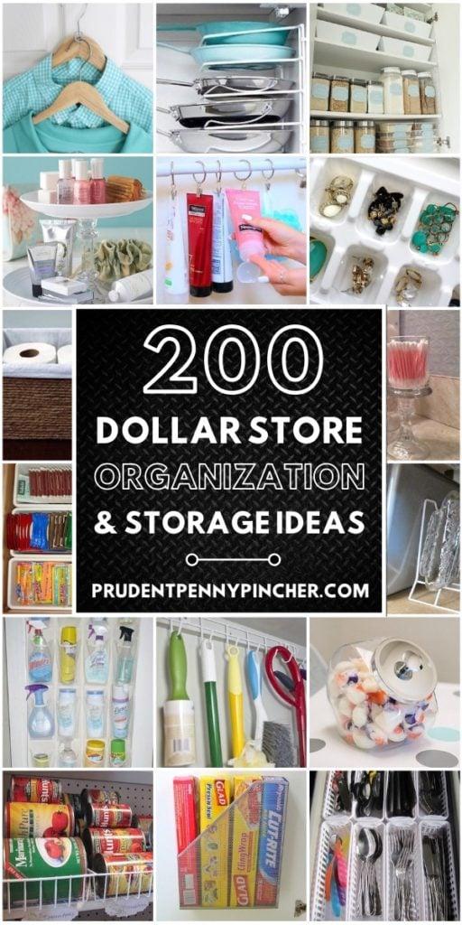 200 Dollar Store Organization and Storage Ideas