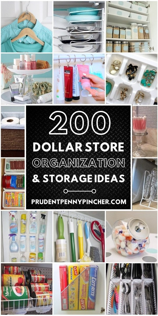 200 Diy Dollar Store Organization Ideas Prudent Penny Pincher