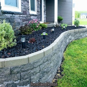 retaining wall Flower Bed Landscaping in front of house