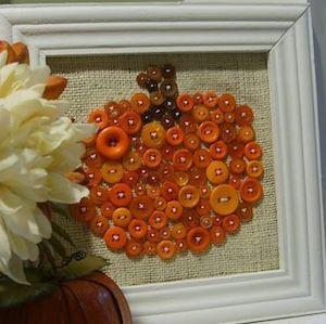 Pumpkin Button Craft