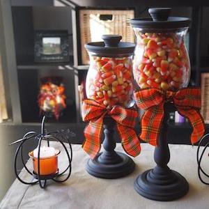 Fall Candy Corn Jars