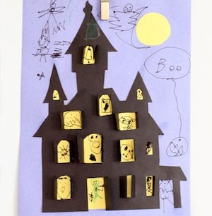 Haunted House Halloween Cut-outpaper craft