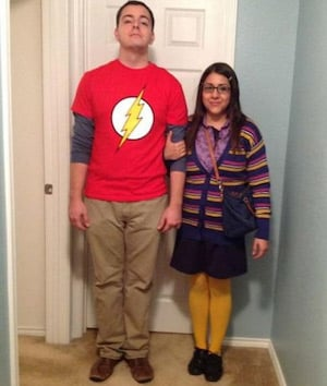 Sheldon and Amy from Big Bang Theory funny Halloween costume idea for couples