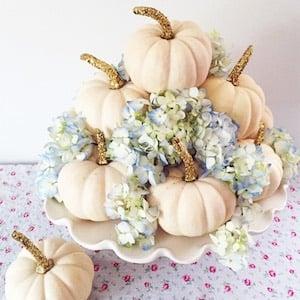 Pumpkins & Flowers DIY Fall Centerpiece