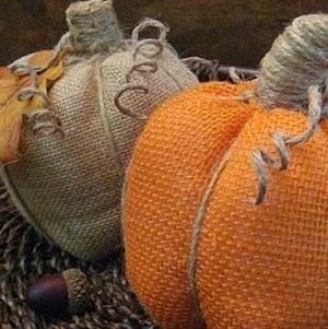 Easy No-Sew Burlap Pumpkins