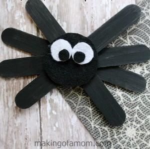 Halloween Craft Stick Spider