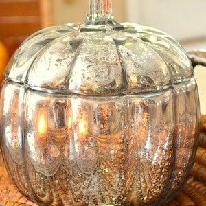 DIY glass Mercury Pumpkin