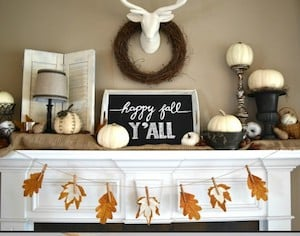Fall Leaves Book Page Banner