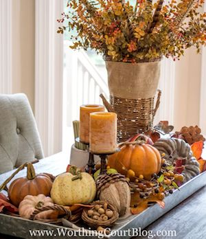 Farmhouse Autumn Centerpiece