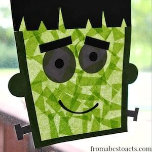 Frankenstein Sun CatcherCraft for Kids
