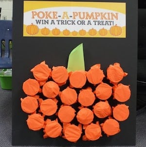Poke A PumpkinHalloween party game