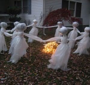 Halloween Lawn Ghosts