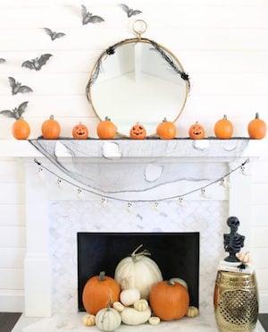 Modern Farmhouse Halloween Mantel