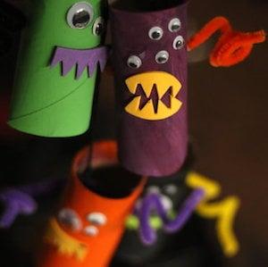 Toliet paper roll Monster Mobile