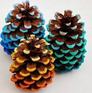 Ombre Pine Cones