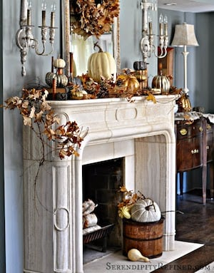 French Country Fall Mantel Idea
