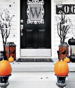 Monogrammed Halloween Door Decor