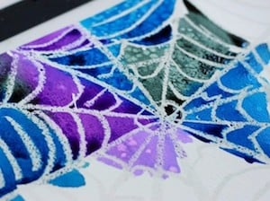 Halloween Spider Web Art for Kids
