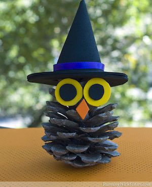 Halloween Pinecone Witch Craft for Kids