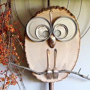 DIY Wood Slice Owl