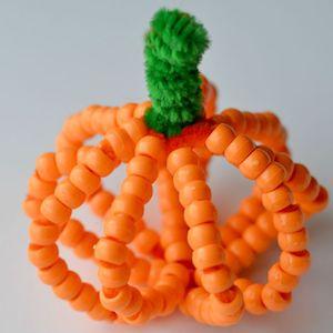 Beaded Pumpkin thanksgiving craft for kids