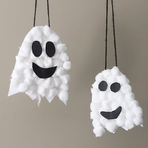 Puffy Ghost Halloween Craft for kids