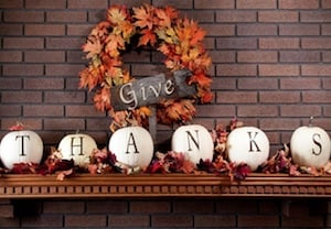 Give Thanks Mantel