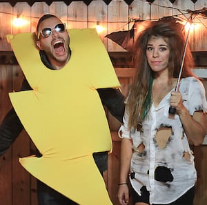 couples Lightning Strike halloween costume
