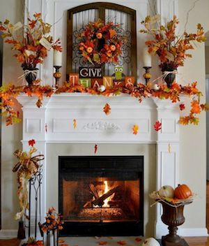 Fall Give Thanks Mantel