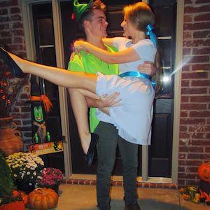 cute Peter Pan & Wendy Couples Halloween Costume
