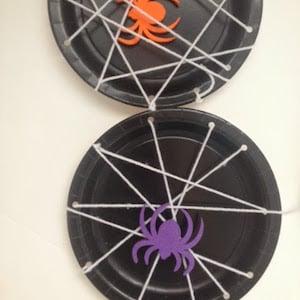 Paper Plate Spiderwebs Craft