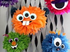 Monster Tissue Paper Pom Poms